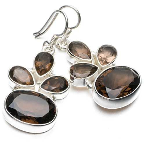 stargemstm-natural-smoky-quartz-unique-punk-style-925-sterling-silver-earrings-1-1-2
