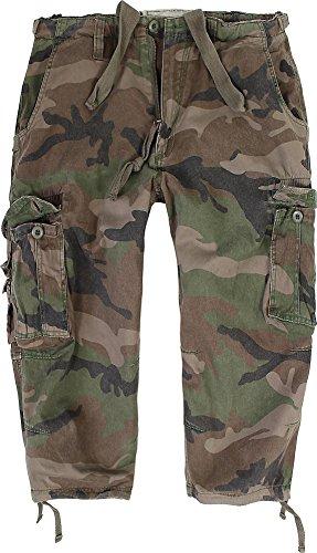 Herren 3/4 Hose Vintage Short aus vorgewaschener Baumwolle Farbe Woodland Größe L