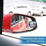 5a696682b7 UNHO 2PCS Espejo de Punto Ciego para Vehículos Espejo Convexo de Gran  Ángulo Espejo Retrovisor en Forma de D con Adhesivo 3M Giratorio de 360  Grados para ...