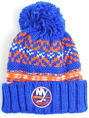 NHL American Nadel Gusto Cuffed Pom Beanie Knit Hat, Herren, Blau, One Size Fits Most - Pom Pom Cuffed Beanie