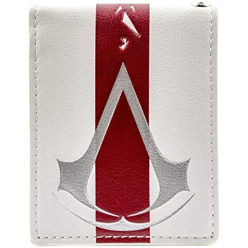 Creed Kinder Black Flag Kostüm Assassins - Ubisoft Assassins Creed roter Streifen Weiß Portemonnaie Geldbörse