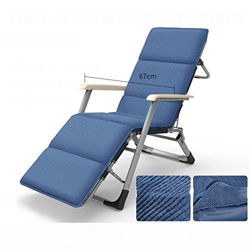 L&J Terrasse Lounge Chair, Stabil Portable Verstellbar Klappstühle Bett Strandstuhl, Office...