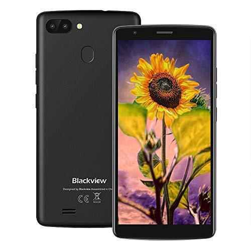 "Blackview A20 Pro 4G Smartphone ohne Vertrag, 5.5"" 720 * 1440 IPS, Android 8.1, MTK6739 1.3GHz 2GB/16GB Quad-Core, 8.0MP+0.3MP Dual Back-Kamera, 3000mAh, Fingerabdruckerkennung, Dual SIM (Schwarz)"
