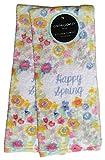 Cynthia Rowley Geschirrtücher Ostern Frühling, 100% Baumwolle, 2 Stück Yellow Blue Green