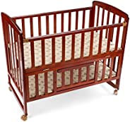 LuvLap C-50 Baby Wooden Cot (Cherry Red, Large) Without Mattress
