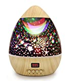 Best Baby Projectors - Star Projector Night Light, Wood Grain Nursery Ba Review