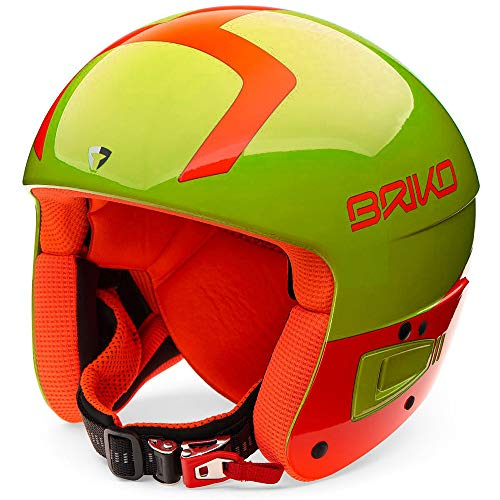 Briko Vulcano Fis 6.8 Jr, Casco Unisex - Adulto, C11Shiny Yellow Orange, S/M