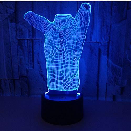 3D 7 farben ändern t-shirt stereo vision acryl usb nachtlicht kinderzimmer nacht schreibtisch schmücken touch led lampe -