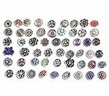Soleebee Mezclado al Azar Aleación de 12mm Rhinestone Snap Botones Joyas encantos DIY Accesorios 50pcs