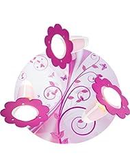 Elobra enfants lampe plafonnier Imagination Plafonnier Chambre d'enfant bois de pépinière rose 132043