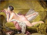 Forex-Platte 40 x 30 cm: Ruhendes Mädchen (Louise O'Murphy) von François Boucher