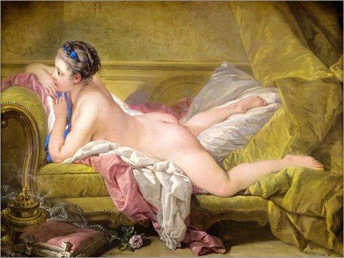 Posterlounge Acrylglasbild 130 x 100 cm: Ruhendes Mädchen (Louise O'Murphy) von François Boucher -...