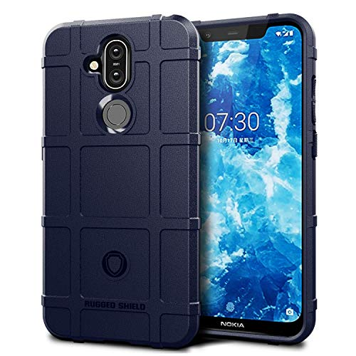 Lokezeep Nokia 8.1 Case Back Cover [Drop Defence Series] Full Body Protective Soft Phone Mobile Cover with Screen Camera Protection Bumper Corner for Nokia8.1/Nokia 8.1 Nokia 8.1 (2018)