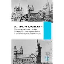 Cuaderno de Música Notebooks & Journals, Edificios (Colección Vintage), Large: Tapa Blanda (13.97 x 21.59 cm)(Cuaderno Pentagramado, Libreta Pentagrama, Bloc de Música)