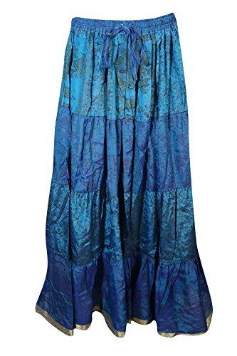 Mogul Interior Damen A-Linie Rock blau blau Blue-3