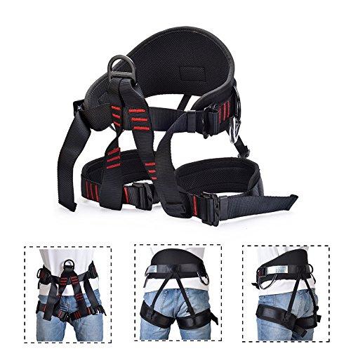 GNEGNI Imbracatura per Arrampicata, Cintura di Sicurezza per Arrampicata su Roccia Regolabile Multiuso a per attività di Avventura All'aperto(Addensare)