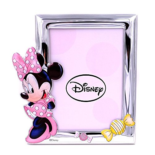 25d40137e0b2 Valenti & co _ Technical Painted Photo Frame with 3d _ Silver _ Minnie Mouse  _