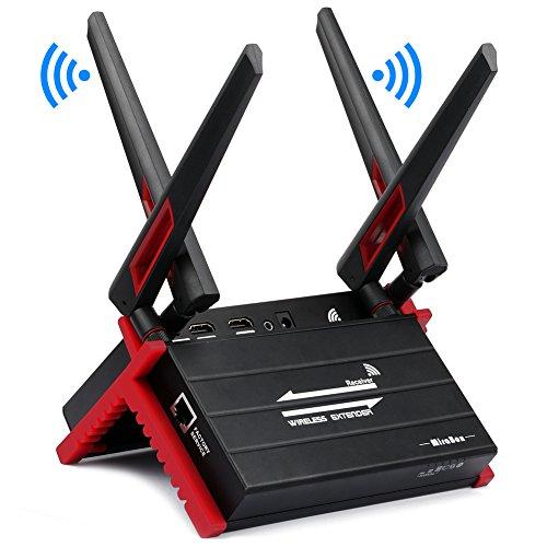 Wireless HDMI Extender 300 m / 984ft Sender und Empfänger zum Streamen von HD 1080P mit IR Signalübertragung Loop out für TV PC DVD Sky HD Box PS4 Satelliten Box von MiraBox