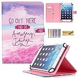 """Funda universal Dteck (TM) para tabletas Samsung Galaxy, iPad de Apple, Kindle de Amazon, Google Nexus y más, para tabletas de 6,5"""" a 10,5"""" 02 Go Out There For 9.5-10.5 inch tablet"""