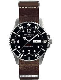 University Sports Press EX-D-MOB-44-NL-DB - Reloj de cuarzo unisex, correa de cuero color marrón