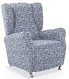 JM Textil Housse de Fauteuil à Oreilles Multi-élastique Naiara, 1 Place (70-90cm),...