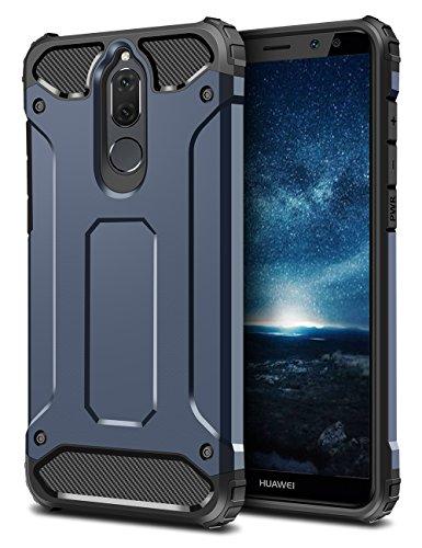 Mate 10 Lite Hülle, Coolden Premium [Armor Serie] Outdoor Stoßfest Handyhülle Silikon TPU + PC Bumper Cover Doppelschichter Schutz Hülle für Huawei Mate 10 Lite (Blau)