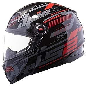 LS2 FF358 Matt Air Pump Full Face Helmet with Mercury Visor (Black, L)