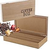 PORTA CAPSULE CIALDE CAFFE CONTENITORE IN LEGNO PORTACAPSULE CAFE COFFE