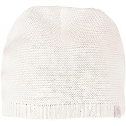 Noppies Unisex - Baby Mütze U Hat Knit Rosita, Einfarbig, Gr. Neugeborene (Herstellergröße: 0-3 M), Weiß (White C001)
