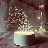 3D Illusions Luz Nocturna Unicornio De Rompecabezas Decoracion Cumpleaños Navidad Regalos Niños Amigas