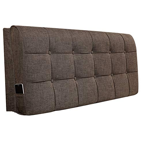 SS Cojín de la cabecera, colchón cama cuña respaldo cojín lumbar almohada extraíble y lavable simple moderno con / sin cabecero 4 colores almohada ( Color : 1#-With headboard , Tamaño : 90cm )