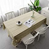 Amcerd Tischwäsche, Hochwertig gefertigtes Abwaschbar Mit Fleckschutz Für Home Küche Dekoration, Verschiedene Größen - Gelb 105x275cm