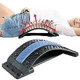Back Stretcher Massager Lumbar, ondersteuning Stretching Device, Lumbar Back Pain Relief Device, Lumbar Back Stretcher, Lower en Upper Back Massager en ondersteuning voor pijn in de rug.