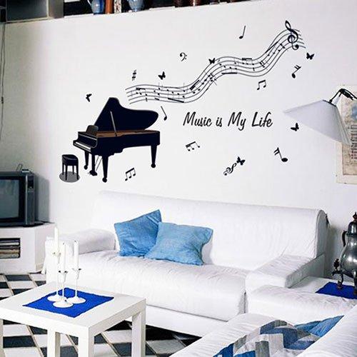 Die Musik Von Kindern Raum Schlafzimmer Schlafzimmer Wohnzimmer Wand Dekoration Bild Wasserdicht Abnehmbaren Aufkleber Aufkleber