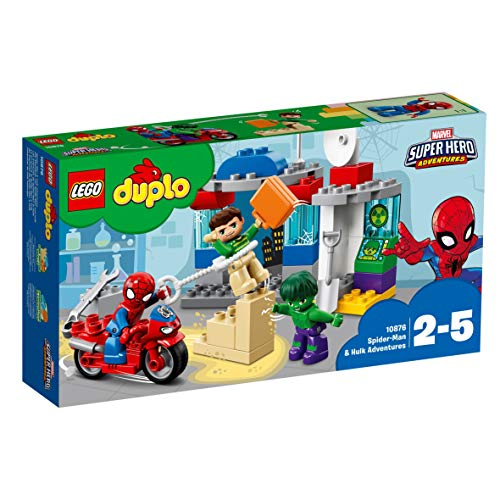 LEGO DUPLO Super Heroes Spider-Man and Hulk Adventures Building Blocks for Kids 2 to 5 Years (65 Pcs)10876