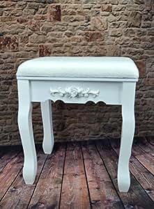 hocker floral polsterhocker sitzhocker antik wei barock f r frisiertisch schminktisch sp80. Black Bedroom Furniture Sets. Home Design Ideas