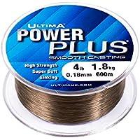 Ultima Power Plus Extra Forte Match e Feeder Pesca Linea, unisex, Power Plus, Dark Olive, 0.18 mm - 4.0 lb