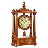 10-Zoll-Antik Retro dekorative Desktop-Uhren Quarzwerk schwingt Pendeluhr klassische Vintage