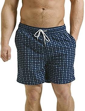 Hombres Nadando Tablero Pantalones cortos Nadar Pantalones cortos Bañador playa Verano malla forrada Trajes de...