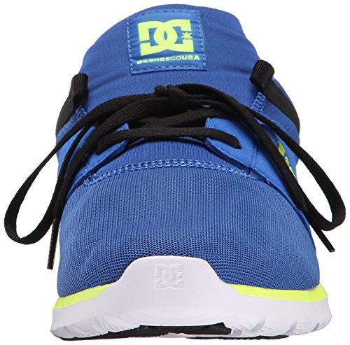 DC Heathrow Skate Shoe, Black/Grey/Green, 14 M US Blue/black/yellow