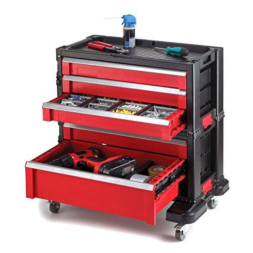 Mobiler Schubladenschrank 4 Lenkrollen mit Bremse - 5 Schubladen
