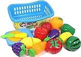 Little Grin Food Heaven Vegetable Fruit Chopping Kit Set Of 14 Pcs For Kids Toy Gift Knife