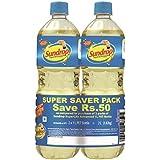 Sundrop Superlite Advanced Sunflower Oil, 1L (Pack of 2, Super Saver Pack)