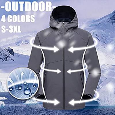 SoonerQuicker Sweatshirts Kapuzenpullover Streetwear for Herren Damen Winter Freizeit Jacken Winddicht Ultraleichter Regenschutz Windbreaker Top Coat