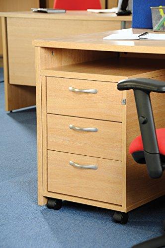 Büro Elefant oe05-r3mb Drei Schublade Mobile Ständer mit drei Flache Schubfächer die die
