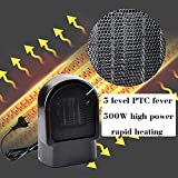 Heizlüfter Fan Heater Mobile Heiz Konvektor Mini Ventilator Elektrisch Heizung Kleine Thermostat Büro Schnellheizer leise Radiatoren Heizgeräte Warmes Ventilator oszillierende keramische Luftwärmer BK