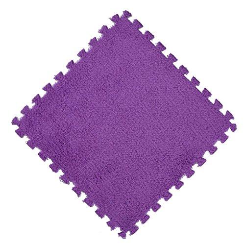 flauschig weich Teppiche artistic9(TM) 30x 30cm Schaumstoff Puzzle Matte Shaggy Samt Baby Eco Boden Kinder Teppich, Ethylenvinylacetat, e, 30x30cm