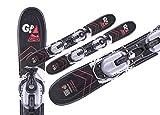Gaspo Snowblades Mini Carv Clou 75 cm+ Bindung und Fangriemen