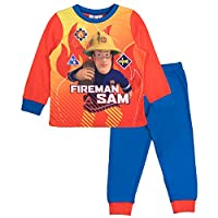 Fireman Sam Boys Long Pyjamas Pjs 1.5-2