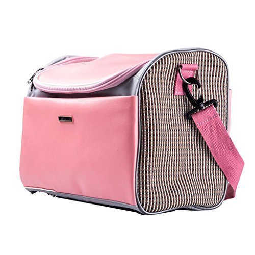 Sconosciuto The 1 for U Uu zaini Pet Outdoor valigetta gatto e cane universale borsa gatto zaino trasportino, PU, rosa, small